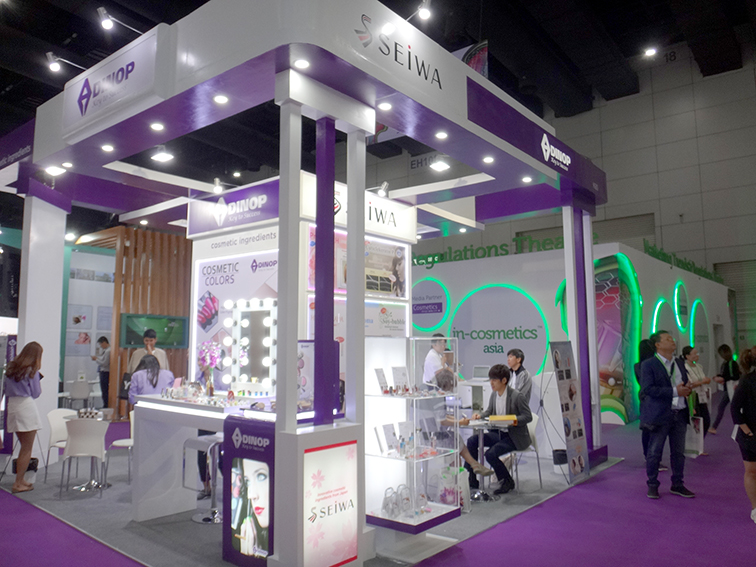 We took part in the exhibition in in-cosmetics Asia 2018